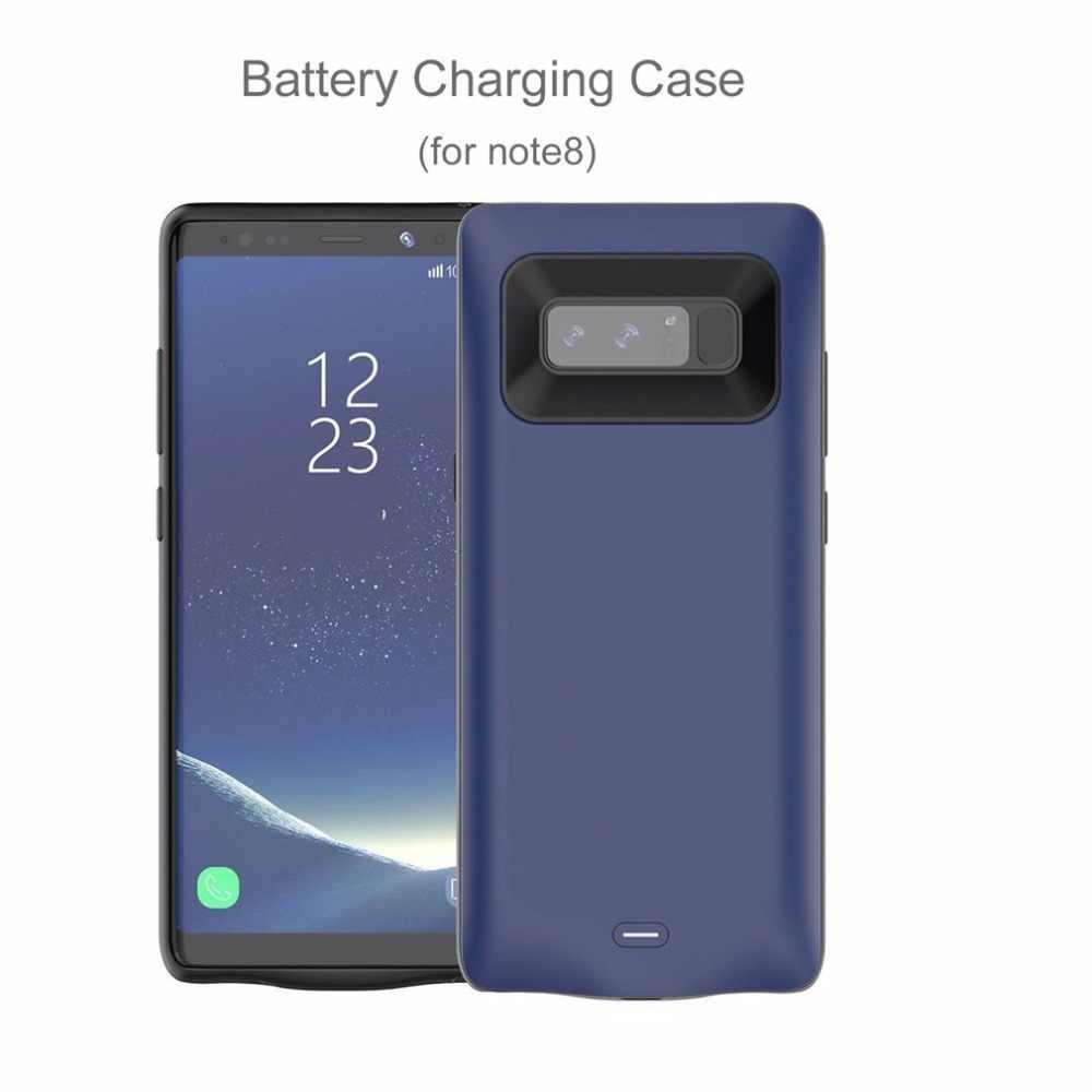 Banco de Potência portátil Para Samsung Nota 8 Recarregável Externa de Carregamento Caso ABS TPU 5500 mAh Grande Capacidade de Bateria de Backup de Telefone