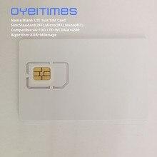 OYEITIMES 4G LTE тестовая сим-карта поддержка двойного Milenage и XOR алгоритмы тестовая сим-карта мини, микро и нано пустая тестовая сим-карта