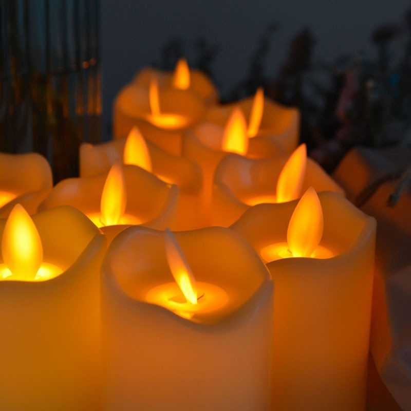 Flameless LED נדנדה חשמלי מהבהב תה אור נרות חתונת חג המולד דקור
