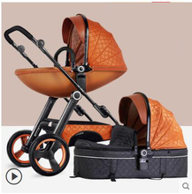 Folding Multifunctional Baby Stroller Carriage 3 in 1 High Landscape Gold Red Baby Stroller Newborn Stroller Mother Assistant