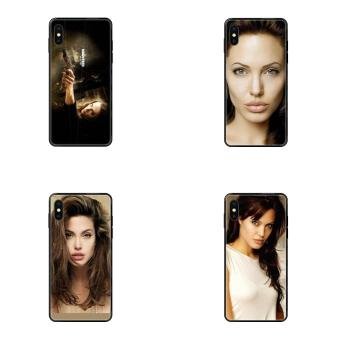 Soft TPU Cellphone Black Angelina Jolie For Huawei P40 P30 P20 P10 P9 P8 Lite Plus Pro 2017 P Smart 2019 image