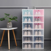 Behogar 6PCS Fashion Stackable Shoes Storage Box Organizer for Home Apartment Space Saving Transparent Plastic Shoe Storage Case low price modern nordic fabric home lobby wooden sofa set design for space saving apartment japan style
