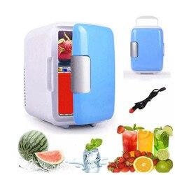 Refrigeradores de una sola Puerta de 4 L para calentar y enfriar el hogar eléctrico, nevera pequeña, congelador, Enfriador de escritorio, calentador para uso de oficina