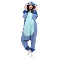 Stitch Unisex Adult One-Piece Pajamas Cosplay Onesies Cartoon Animal One-piece Sleepwear Pyjamas Christmas Halloween Costume