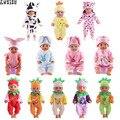 Одежда для кукол, 15 видов на выбор, 1 = рождественский подарок, Одежда для кукол, милая Пижама, размер 18 дюймов, американская кукла 43 см, игрушк...