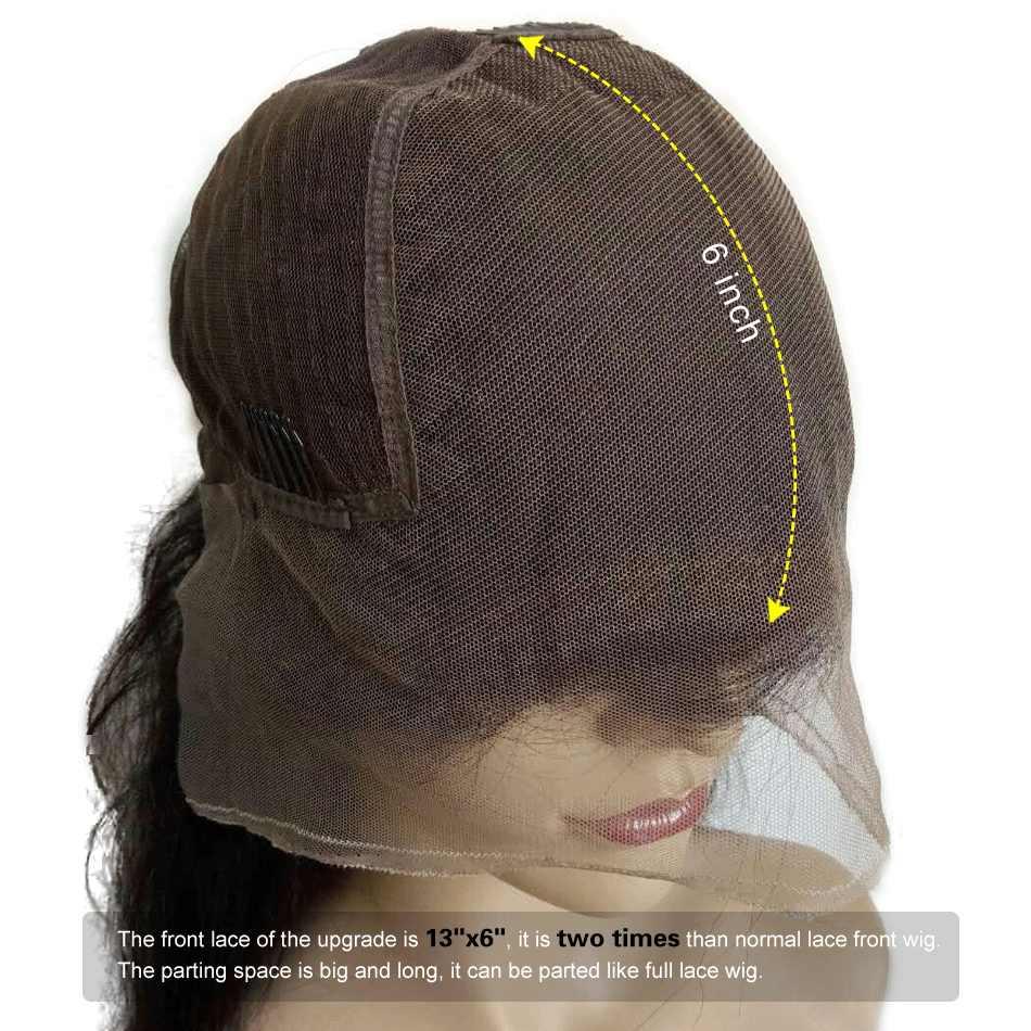 13x6 pelucas frontales de encaje pelo brasileño Pre desplumado Remy pelucas de cabello humano Real rizado para mujeres negras To