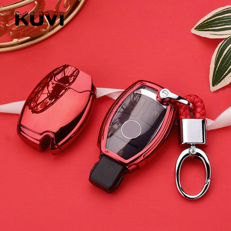 lowest price TPU key Case Cover Key Case Protective Shell Holder Fit for Mercedes Benz W204 W205 W212 C E S GLA Key Cover Case