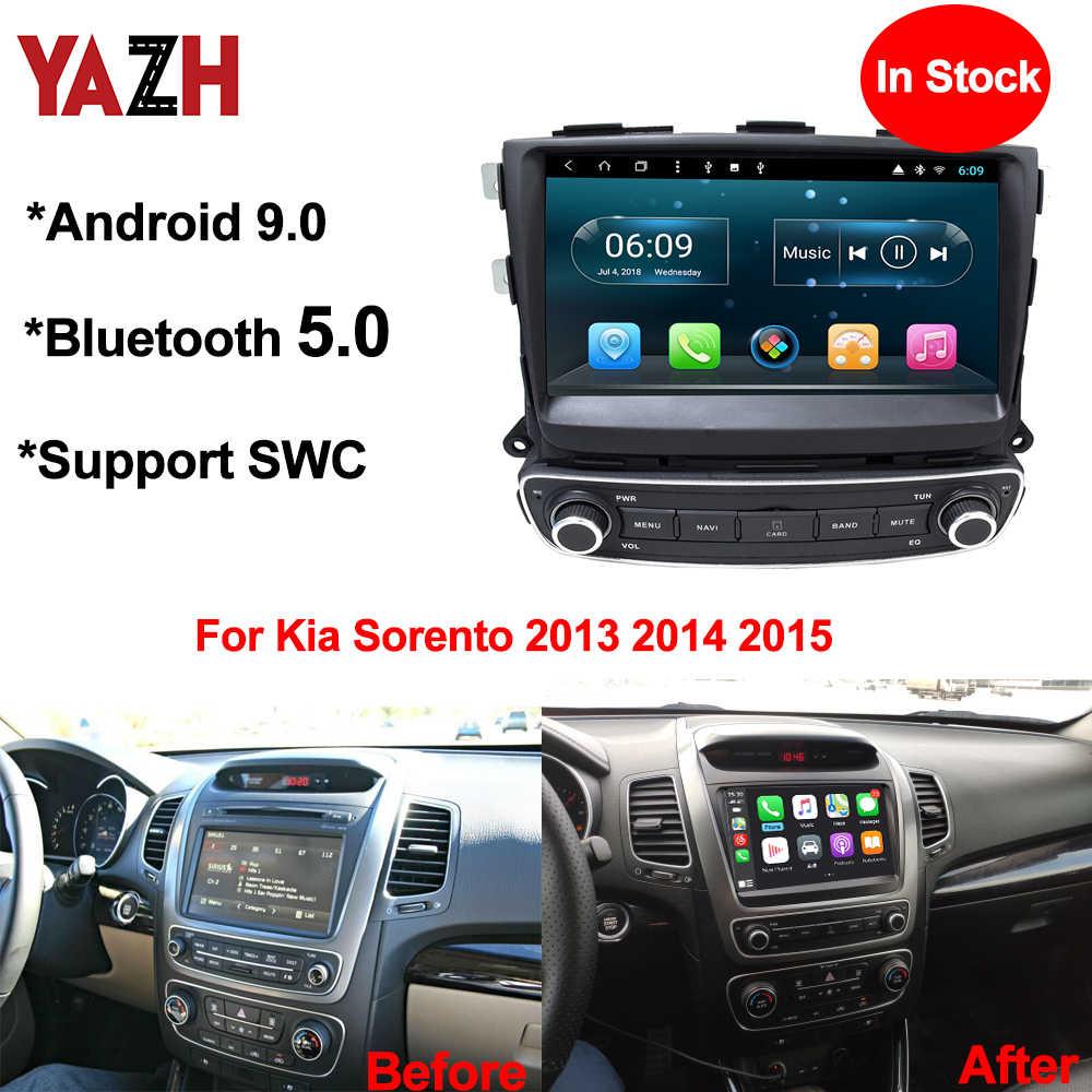 """YAZH أندرويد 9.0 فطيرة 9.0 """"IPS شاشة سيارة وحدة لاعب لكيا سورينتو 2013 2014 2015 مع 1024*600 HD SWC /Carplay/مرآة رابط"""