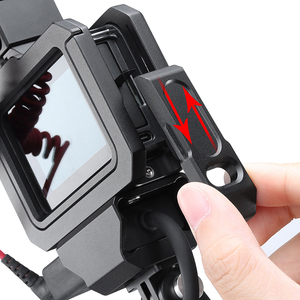 Image 4 - Ulanzi מתכת Vlog כלוב מקרה עבור Gopro 8 שחור קר נעל מיקרופון מתאם מקרה עבור LED אור מיקרופון Gopro סוללה מיקרופון מתאם