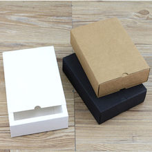Cardboard box kraft Paper Drawer box Wedding White Gift Packing Paper Box For Jewelry/Tea/handsoap/Candy