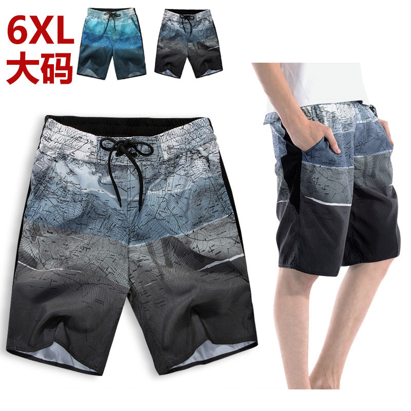 Casual Shorts Men's 19 Summer Men Loose And Plus-sized Beach Shorts 5 Shorts Thin Quick Drying Pants