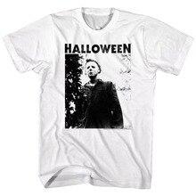 Halloween Horror Movie Michael Myers Masked Men'S T Shirt Scary Evil Villain Topcotton Men T-Shirts Classical 2019 O Neck halloween horror shirt michael myers premium graphic t shirt s 5xl