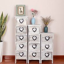 Retro style living room stuff storage wooden table creative Nordic simple solid wood furniture paulownia home furniture