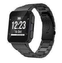 ANBEST için paslanmaz çelik Watchband forerunner 35 saat kayışı bileklik Metal kayış Forerunner 35 kordon akıllı saat saat kayışı