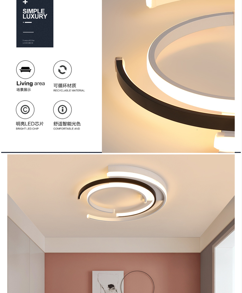 H0c4a7b590966407e90e25c37bd67e23aC LED Dimmer Switch | Dim Light | Modern LED Ceiling Lights Lamp for living room Bedroom AC85-265V lamparas de techo Modern LED Dimming Ceiling Lamp for bedroom
