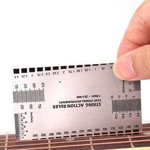 1 pçs corda de ação acessórios da guitarra calibre régua baixo mandolin luthier ferramentas para instrumentos cordas