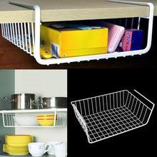 1 pcs Polyester Spandex Lightweight And Durable Design Suoerior Kitchen Under Shelf Storage Basket Metal Organiser Rack