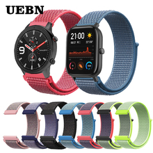 UEBN 20mm 22mm Nylon Sport Loop Strap Replacement Band For xiaomi Huami strap Amazfit GTS/GTR 42mm 47mm/Bip watchbands