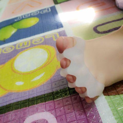 20 pares de silicone protetor hallux valgus corrector toe separador crianca maca do dedo do