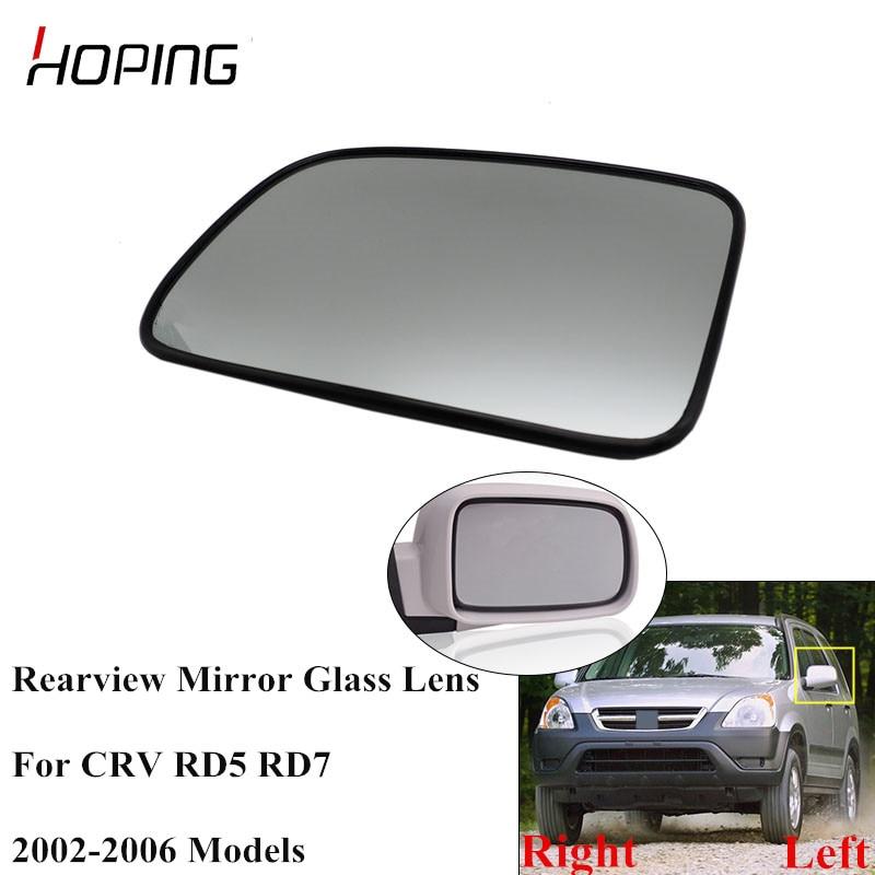 Hoping Auto Side Rearview Mirror Glass Lens For HONDA CRV CR-V RD5 RD7 2002 2003 2004 2005 2006 76253-SPA-H01 76203-SPA-H01