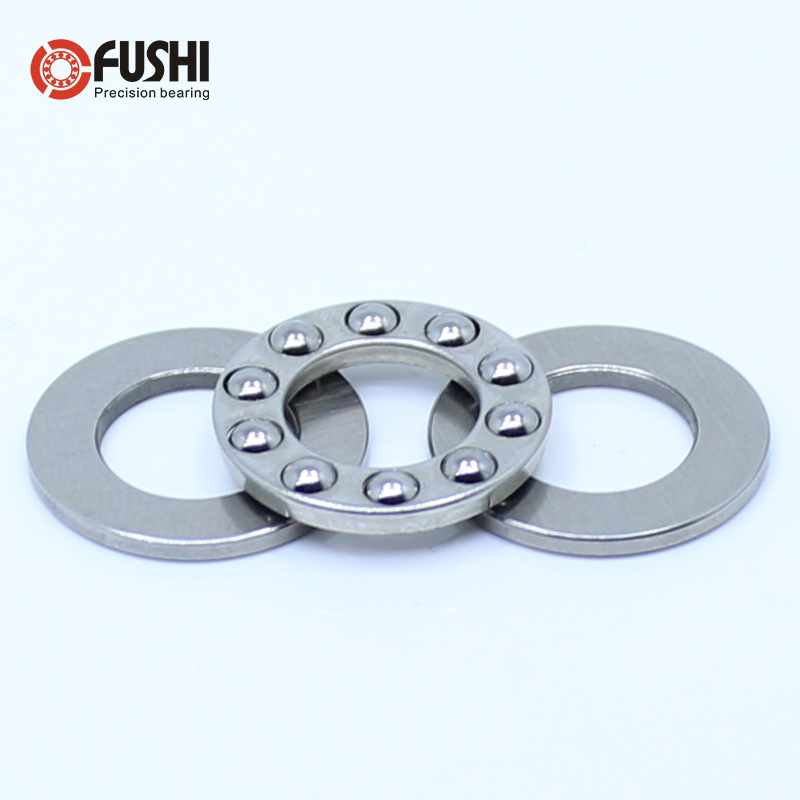 100PCS F2-6M F2.5-6M F4-9M F5-10M F6-11M Stainless Steel Cage Axial Ball Thrust Bearings 2x6x3 2.5x6x3 4x9x4 5x10x4 6x11x4.5 Mm