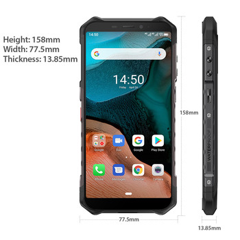 Ulefone Armor X5  Android 10 Rugged Waterproof  Smartphone IP68 MT6762 Cell Phone 3GB 32GB Octa core NFC  4G LTE Mobile Phone 5