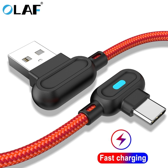 Olaf 1M 2M สาย USB Micro USB ประเภท C สายชาร์จสำหรับ iPhone XS MAX Samsung a50 S8 USB Charger โทรศัพท์มือถือสายไฟ