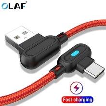 Olaf cabo usb micro usb tipo c de 1m 2m, cabo de carregamento rápido, para iphone xs, max, samsung cabo usb carregador a50 s8