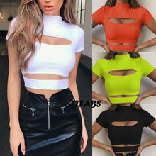 Women Sexy Casual Top Sleeveless Summer Crop Top T-Shirt Cami Top