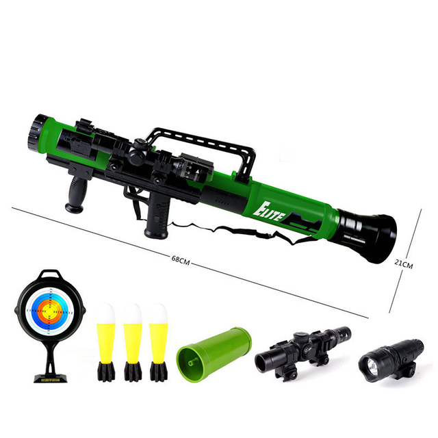 ZhenDuo Toy rocket launcher bazooka model mortar toy can launch chasing bomb sound and light toy Gun for Children Christmas Gift | Outdoor Fun & Sports