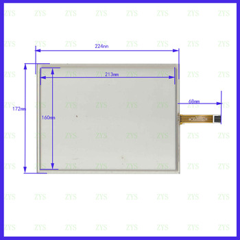 wholesale 5PCS/Lot  HP-104 yitouch panel 10.4inch  224*172 4lines resistance screen XWT259  this is compatible 224mm*172mm