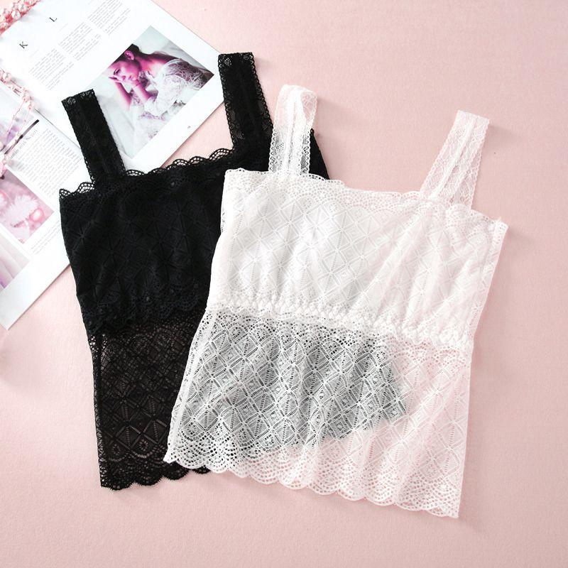 Large Size Lace Tube Top Seamless Sexy Breathable Underwear Women Summer Bras
