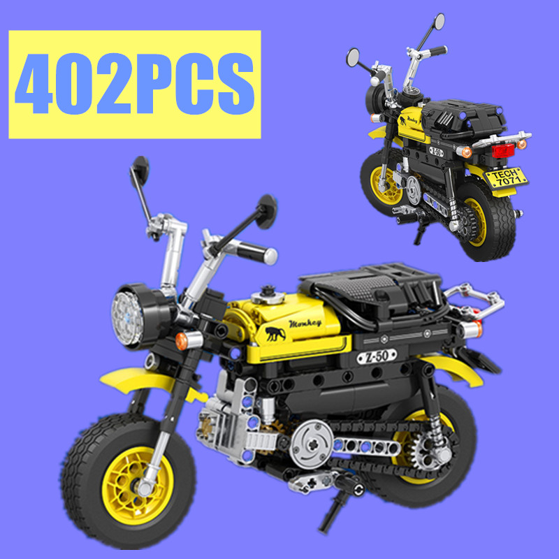 402pcs Technic Mini Motorcycle Motorbike Building Blocks Bricks Model Toy 7071NO