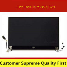 Genuine 15.6 para dell xps 15 9570 uhd lcd display led tela de toque montagem completa