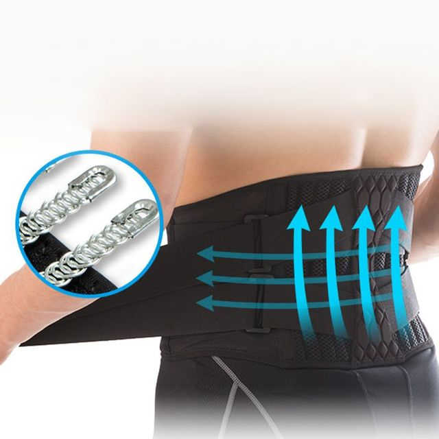 Waist Support Strong Lower Back Supporter Corset Waistband Sports Sweat Belt 3
