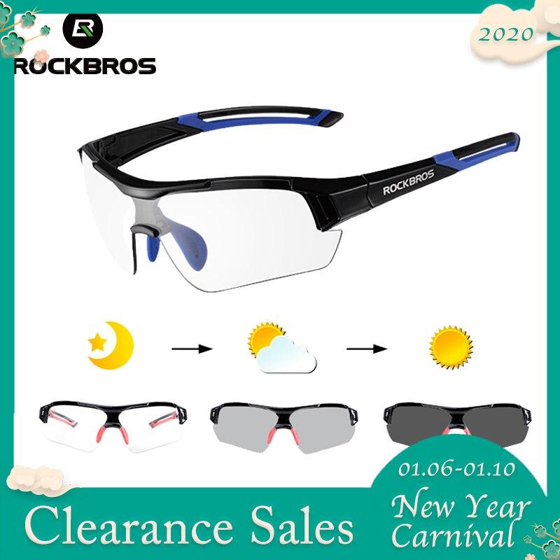 ROCKBROS Radfahren Sonnenbrille Photochrome Bike Gläser Polarisierte Brillen Brille Für Männer Frauen Outdoor UV400 MTB Bike Straße