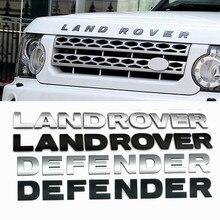 Carta 3d capô do carro capa emblema para land rover range rover velar sport discovery 2 3 4 defender frente chrome cabeça adesivo