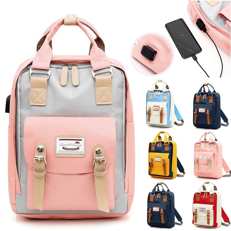 2019 New Multifunction Women Backpack School Bag For Girl High Quality Canvas Laptop Backpack Schoolbag For Girl Mochila Plecak