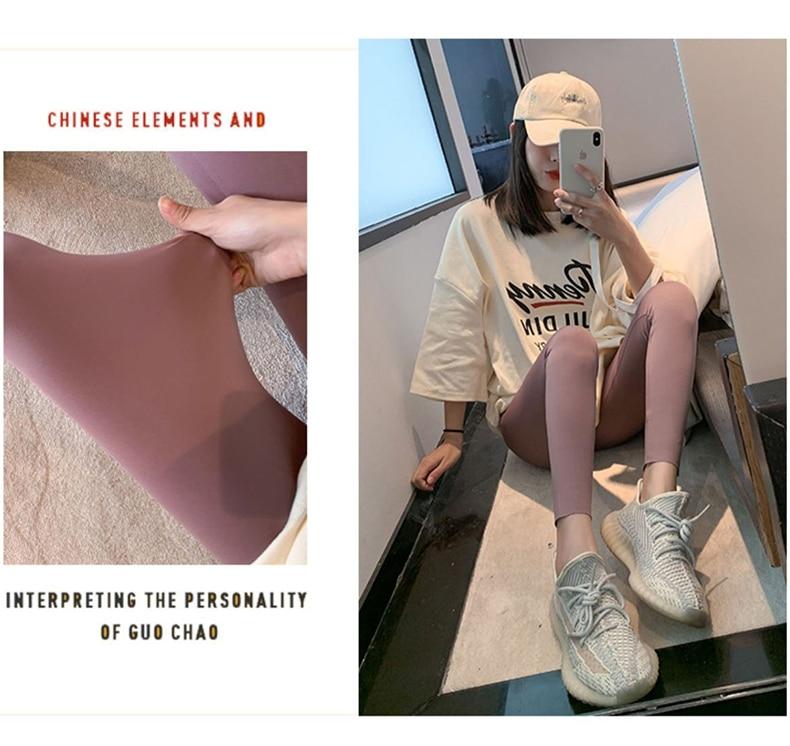 H0c4c148ce34c47f6aff89e2a9ee24f68U BIVIGAOS New 3-Color Sharkskin Leggings Women Spring Summer Thin Skinny Legs Fitness Leggings Pressure Elastic Sport Leggings