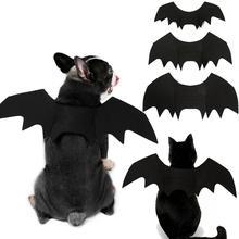 1pc Funny Halloween Pet Dog Cosplay Costumes Bat Wings Vampire Cute Black Fancy Dress Up Halloween Pet Puppy Dogs Cat Costume halloween sexy dark demon queen costumes cosplay women bat vampire cloak masquerade halloween dress costumes