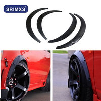 4Pcs Universal Car Fender Flares Extra Wide Body Wheel Arches wheel eyebrow carbon fiber arch flares protector trim lips fender