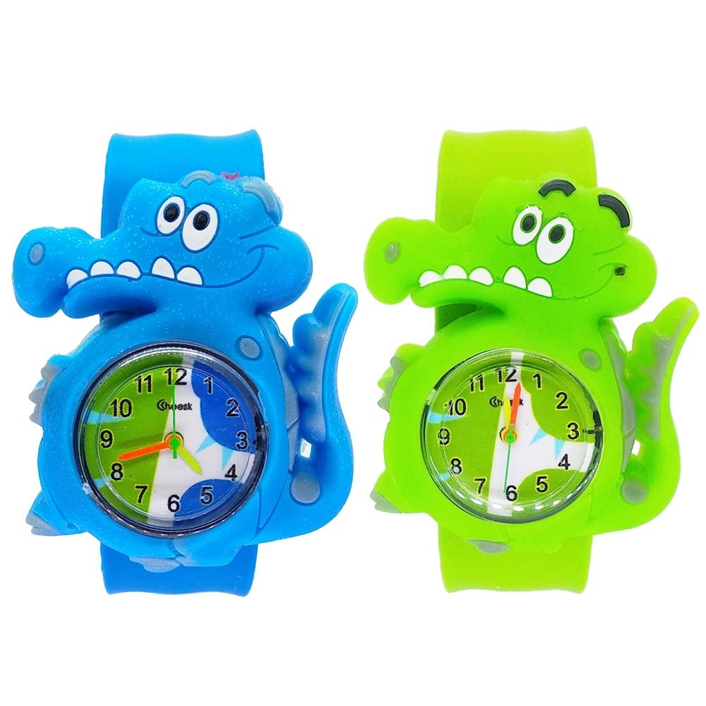 Модные 3D часы с крокодилами; детская одежда с принтом Микки-Мауса, детская игрушка, часы для студентов спортивные часы для девочек
