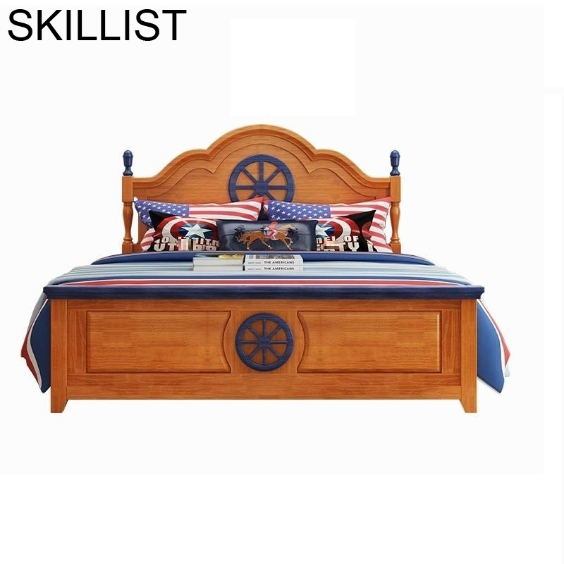 Mobilya Cama Infantiles Puff Asiento Kinderbedden Wood Bedroom Lit Enfant Muebles De Dormitorio Wooden Baby Child Furniture Bed