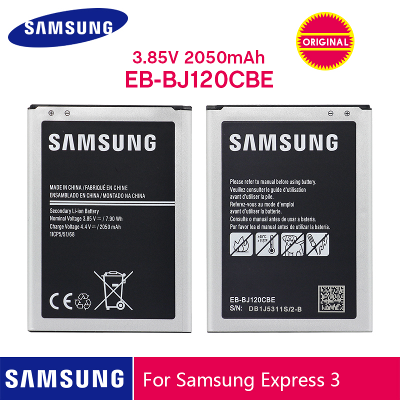 SAMSUNG Original Battery EB-BJ120CBU EB-BJ120CBE 2050mAh For Samsung Galaxy J1 2016 Version J120 J120F J120A J120H J120T J120DS