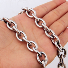 8-32 11mm Customized Size Fashion Silver Womens Mens Stainless Steel Rolo Oval Link Chains Necklaces Or Bracelet Jewellery