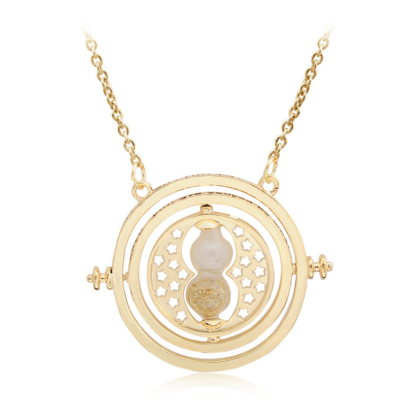 Hot Harri Necklace Series Magic Gifts For Lady Girls Gold Snitch Potter Time-Turner  Horcrux Pendant Chain Sexy Women