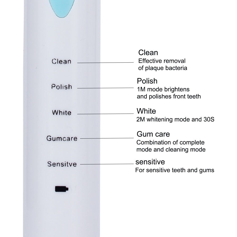 Hot 5 Modes Sonic Electric Toothbrush USB Rechargeable Tooth Brush 4 Replacement Head Waterproof Timer Teeth Whitening for Adult