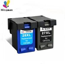 27xl 28XL переработанного чернильного картриджа для hp 27 28 чернилами hp Deskjet 3320 3325 3420 3535 3550 3650 3744 Officejet 4211 4212 4215 4219 4251 4255 принтер