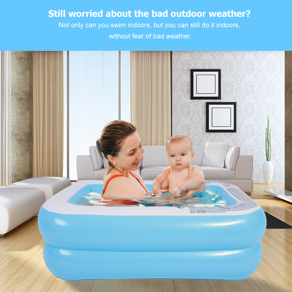 Hot Sale 155cm Summer Big Inflatable Swimming Pool Thick Pad Pool Home Bathtub Kids Bath Tub Outdoor for Children Fun Water Play image