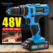 48V Elektrische Boor Draadloze Schroevendraaier Lithium Batterij Mini Boor Draadloze Schroevendraaier Power Gereedschap Draadloze Boor